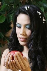 りんごの女の人